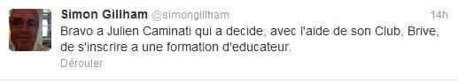 Julien Caminati sera bien suspendu 6 mois... et va entamer une formation d'éducateur !